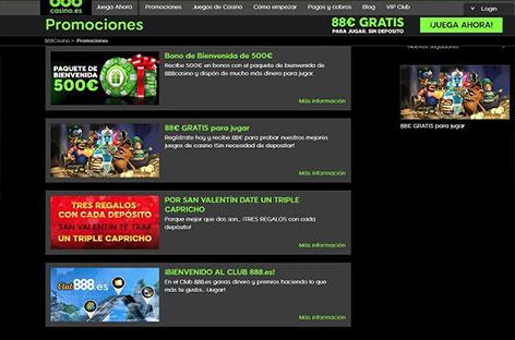 888 casino promociones