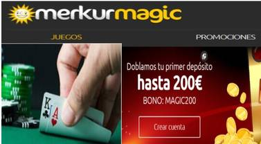 Merkurmagic entrega 200 euros por el primer depósito
