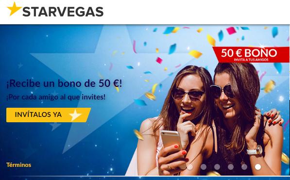Bono de hasta 200 euros por primer depósito Casino Starvegas